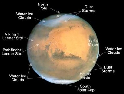 Planet Mars Surface Temperature - Pics about space